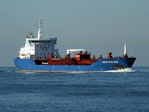 Maersk Nordenham p1 approaching Port of Rotterdam, Holland 21-Feb-2005.jpg