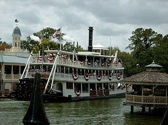 Liberty Square (Magic Kingdom) - The ''Liberty Belle'' Riverboat at its mooring