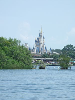 Seven Seas Lagoon - Image: Magic Kingdom Castle from Lagoon