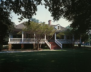 Magnolia Mound Plantation House - Front of the house