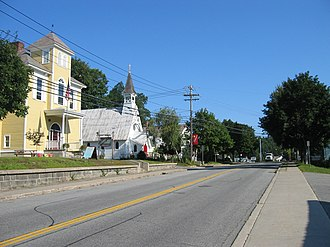 Chester, Warren County, New York - Main Street in Chestertown, town's primary community