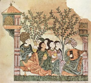 Arabic music -  Bayad plays the oud to The Lady. from the Riyad & Bayad, Arabic tale.