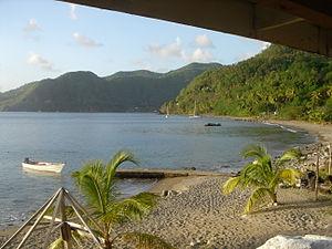 Soufrière Quarter - Image: Malgretout Beach, Saint Lucia