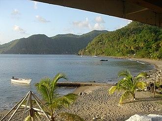 Soufrière, Saint Lucia - Image: Malgretout Beach, Saint Lucia