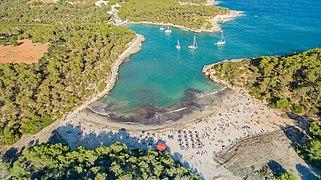 Aerial Of Cala Amarador Beach