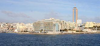 St. Julian's, Malta - St. Julian's skyline