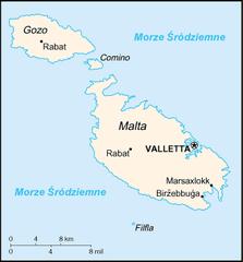 Mapa Malty