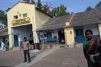 Kothavalasa–Kirandul line - Manabar railway station in Araku Valley.