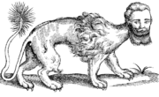 Manticore illustration from The History of Four-footed Beasts (1607)