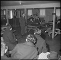 Manzanar Relocation Center, Manzanar, California. A meeting was held in one of the mess halls to ex . . . - NARA - 536713.tif