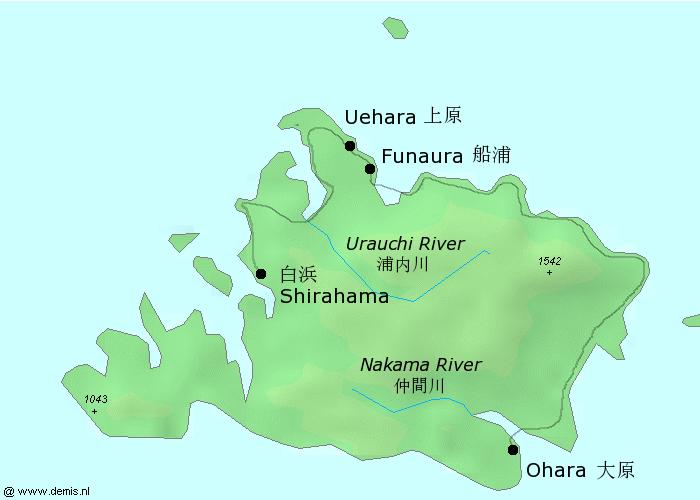 Map-Iriomote