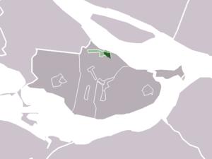 Den Bommel - Image: Map NL Oostflakkee Den Bommel