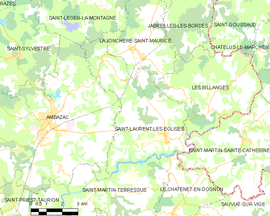 Mapa obce Saint-Laurent-les-Églises