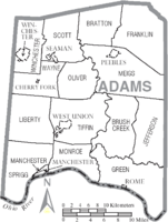 Municipalities and townships of Adams County