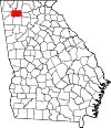 Map of Georgia highlighting Gordon County.svg