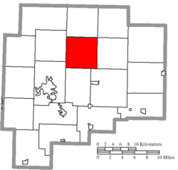 Location of Jefferson Township in Guernsey County
