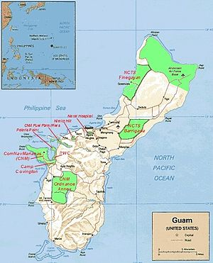 Map of Military Installations on Guam