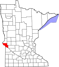 Map of Minnesota highlighting Big Stone County