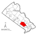 Map of Northampton Township, Bucks County, Pennsylvania Highlighted.png