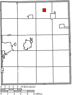 Location of Hiram in Portage County
