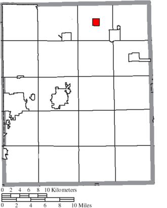Hiram, Ohio - Image: Map of Portage County Ohio Highlighting Hiram Village