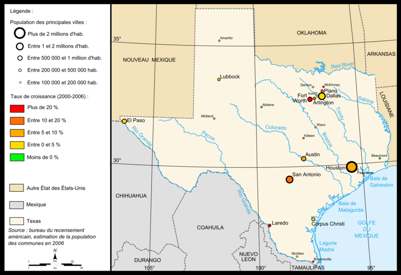 map of texas with cities and towns. File:Map of Texas cities.png