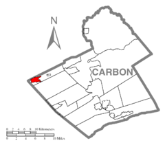 Map of Tresckow, Carbon County, Pennsylvania Highlighted.png