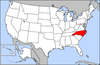 Map of USA highlighting North Carolina.png