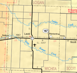 KDOT map of Wichita County (legend)