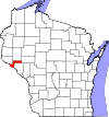 State map highlighting Pepin County
