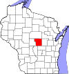 State map highlighting Portage County