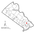 Map of Woodbourne, Bucks County, Pennsylvania Highlighted.png