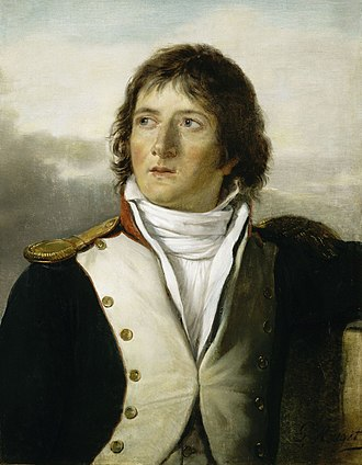 Saint-Cyr as a captain of the 1st battalion of chasseurs of Paris, 1792 Marechal-Gouvion.jpg