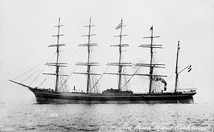 William Lithgow (shipbuilder) - Maria Rickmers, one of the first five-masted ships