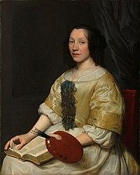 Wallerant Vaillant: Maria van Oosterwijck (1630-93). Flower painter