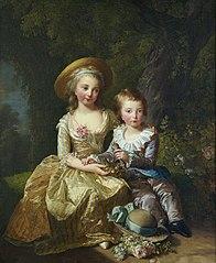 Louis-Joseph-Xavier-François de France et Marie-Thérèse-Charlotte de France