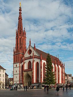Marienkapelle Würzburg, South West View 20140107 15