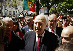 Mário Soares - Soares attending a rally in Lisbon to celebrate the 40th anniversary of the Carnation Revolution, 25 April 2014