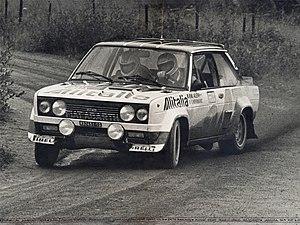 Markku Alén - Alén drives a Fiat 131 Abarth at the 1978 1000 Lakes Rally.