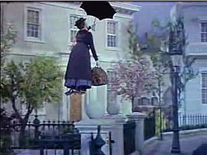 Mary Poppins - Screenshot of Julie Andrews from the trailer for the film Mary Poppins
