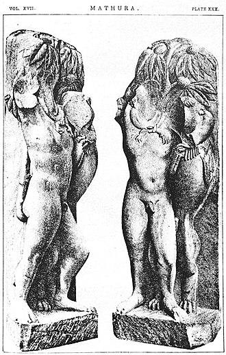 Mathura Herakles - Mathura statue of Herakles strangling the Nemaean lion.