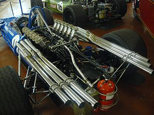 Equipe Matra Sports - V12 engine in a Matra MS11 F1, 1968.