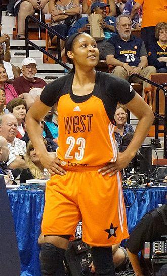 Maya Moore - Maya Moore at 2015 All-Star game, where she won the MVP award
