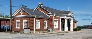 Maysville Kentucky Amtrak Station from west (cropped).jpg