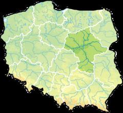 województwo mazowieckie na mapie Polski
