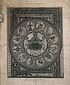 Medieval Christian mosaic from Aoste cathedral in France; re Wellcome V0007624.jpg
