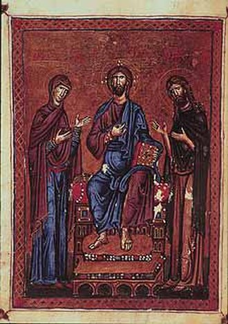Melisende, Queen of Jerusalem - An illustration from the Melisende Psalter, commissioned during the Queen's reign