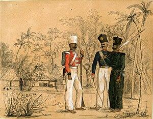 Nair Brigade - Image: Members of a Nair brigade