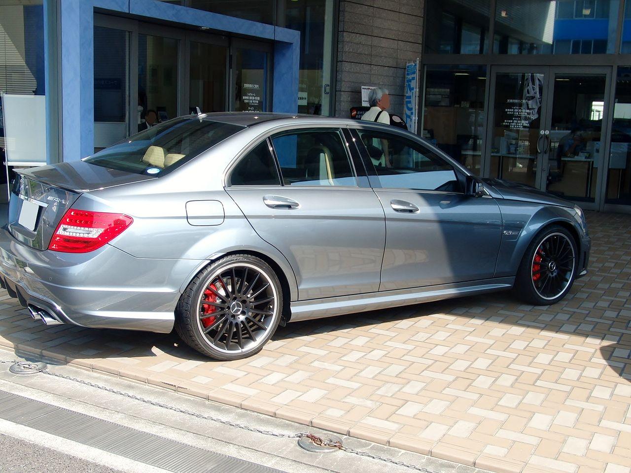 File mercedes benz c63 amg sedan w204 rear jpg for Mercedes benz c63 amg 2014