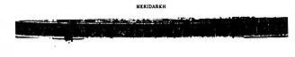 """Meridarch - """"Meridarch Theodorus"""" inscription in Swat relic vase."""